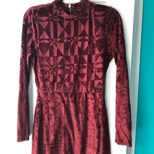 patterned body con dress